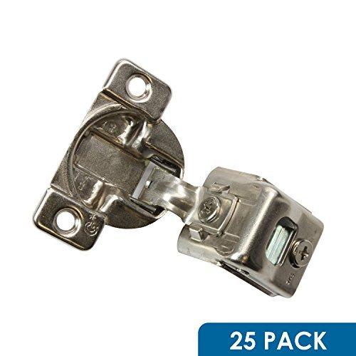 Gras Cabinet Hardware (25Stück ROK Hardware Gras Tec 864108Grad 1-1/5,1cm Overlay 3Level selbst Schließen Schraube auf Compact Schrank Scharnier 04499-153-Wege-Anpassung 45mm langweilig Muster)