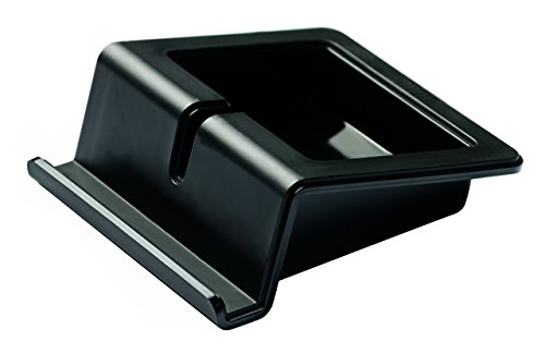 Preisvergleich Produktbild HAN Tablet Stand UP in schwarz, Moderner Tablet Halter mit Softgrip Oberfläche und Kabelhalterung, für alle gängigen Tablets und Smartphones