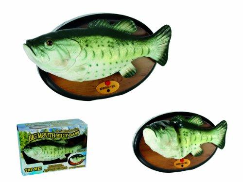Out of the blue 61/4090 Singender Fisch mit Bewegung, Billy Bass, circa 28 cm für 4 Mignon AA Batterien - 2