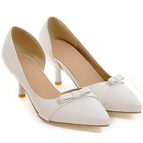 f7703aff155ad ... Talon Enfiler Bout Bow Chaussures Femme Ferme Dorsay Blanc Pointue  Coolcept A Petit Bas Elegant Avec ...