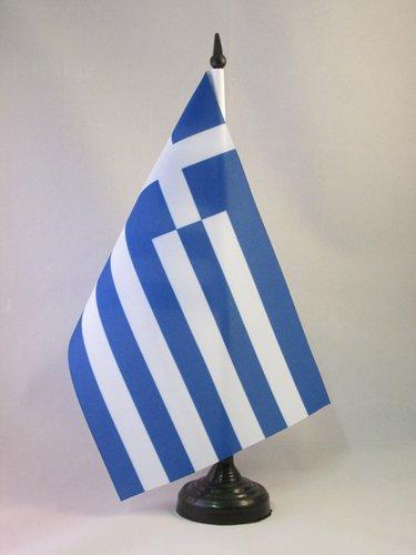 TISCHFLAGGE GRIECHENLAND 21x14cm - GRIECHISCHE TISCHFAHNE 14 x 21 cm - flaggen AZ FLAG
