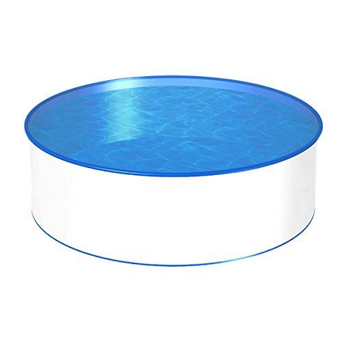 POWERHAUS24 MTH Schwimmbecken, rund, 2,00m x 1,20m, 0,6mm Stahlwand, 0,8mm Folie mit Keilbiese