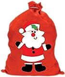 Red Christmas Santa 60cm x 50cm Santa Gift Present Sack
