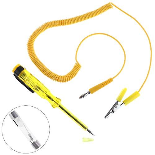 Générique 6 V-24 V Long Pen-Type Test Crayon Tension testeur de Circuit de Voiture Test Voltmet avec sonde et Ressort Fil Ampoule Automobile Outils de Maintenance pour Voitures