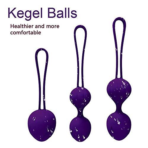 Kegel Balls Tightening for Internal Pelvic Floor Prolapse Weighted Training Set für Damen, There are 3 verschiedene Kegel Übungs-Set
