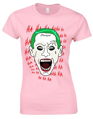 Mashup Jared Letto/Mark Hamill Joker Animierter Art-Stil Damen Schnitt Soft-Pink