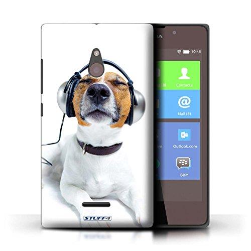 Kobalt® Imprimé Etui / Coque pour Nokia XL / Chien somnolent conception / Série Animaux comiques Chien avec casque