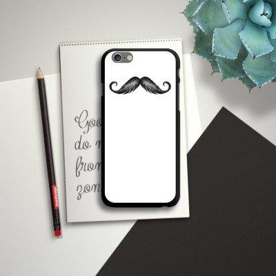 Apple iPhone 5s Housse Étui Protection Coque Moustache Moustache Gris CasDur noir