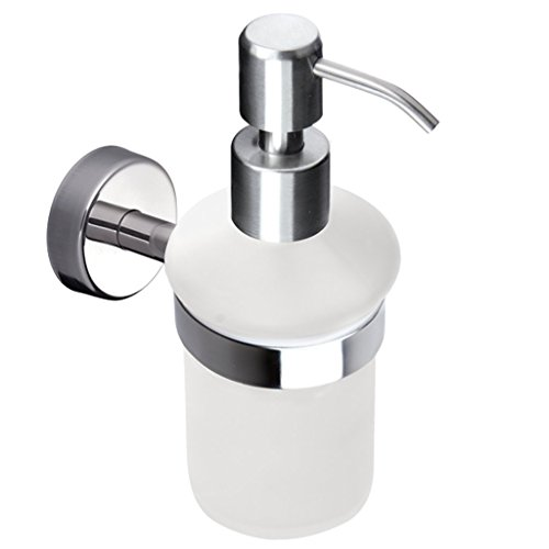 kapitan-frosted-glass-soap-dispenser-and-holder-wall-mounted-stainless-steel-aisi-304-18-10-polished
