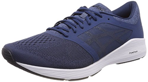 Asics Roadhawk FF, Chaussures de Running Compétition Homme, Gris (Mid Grey/White/Safety Yellow 9601), 44.5 EU