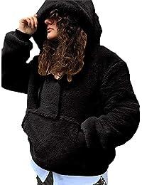 Abrigos Mujer Invierno Rebajas Elegantes Talla Grande Piel SintéTica De  Lujo Moda con Capucha Abrigo CáLido d3f7745178aa