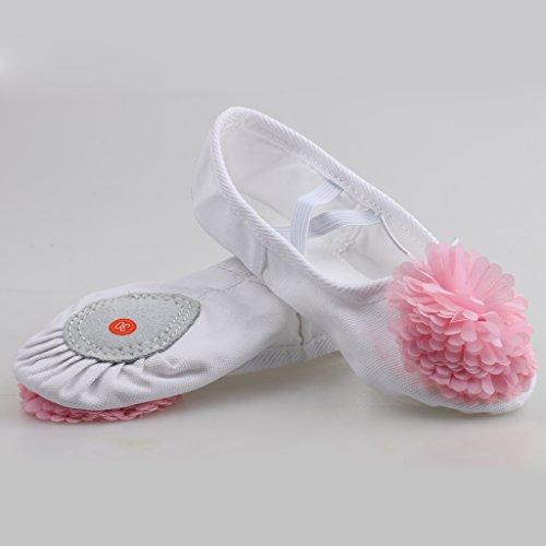 Generic Bambino Ragazze Scarpe da Danza Ballerine Danzanti Pattini da Balletto Pantofole Ginnastica Sport Rosa