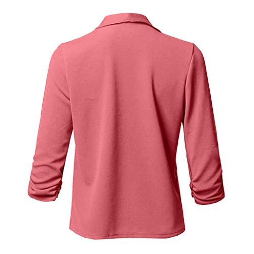 URSING Cardigan Damen Elegante Blazer Einfarbig Plissee Flowy Anzug Sakko Business Anzugjacke Strickjacke Sweatshirt Tunika Langarmshirts für Damen Dragon Zip-hoodie