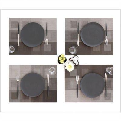 chilewich Conçu carré vert Set de table durable avec design moderne