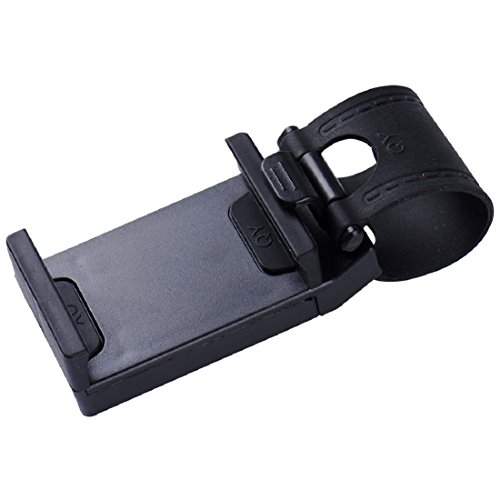 Auto Lenkrad Handyhalter, Halter für iPhone Xiaomi Samsung Huawei Meizu GPS Schwarz (Auto-lenkrad-handy-halter)