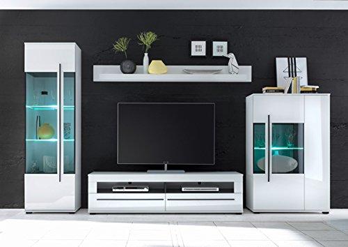 Wohnwand Anbauwand mit LED-Beleuchtung 440939 weiß 330cm 4-teilig - 2