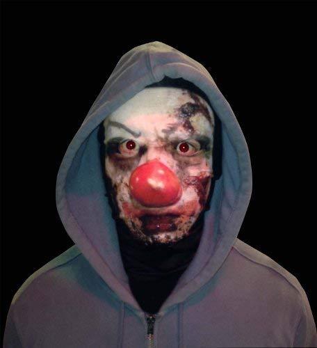 L&S PRINTS FOAM DESIGNS Scary Clown Full Face Design Snood Necktube Gesichtsmaske Neckwarmer tolle Hirsch Party Zubehör
