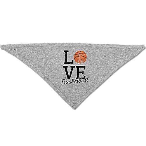 Sport Baby - Love Basketball - Unisize - Grau meliert - BZ23 - Baby-Halstuch als Geschenk-Idee für Mädchen und Jungen (Basketball-baby-mädchen)