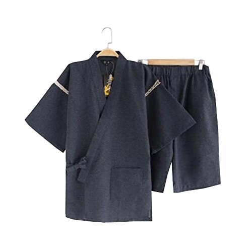 DRAGON SONIC Kimono Jinbei camisa y pantalón japonés Loungewear/spa albornoz (corto) - G
