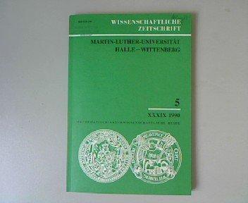 Wissenschaftliche Zeitschrift. Martin-Luther-Universität Halle-Wittenberg. Mathematisch-Naturwissenschaftliche Reihe 5, XXXIX 1990. Zur Analyse des Nernst-Ettingshausen-Effekts.