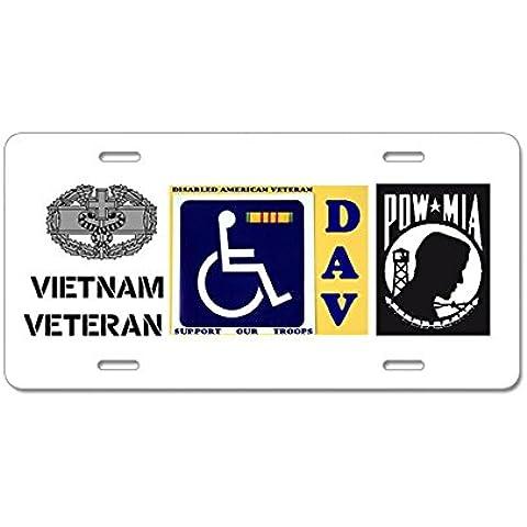 CafePress disabili Veteran in alluminio targa, Standard, colore: multicolore