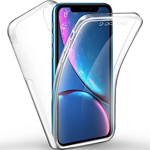nuovo concetto 773f9 acc71 AROYI Cover iPhone XR, iPhone XR Custodia Transparent Silicone TPU e PC  Full Body Protettiva Premium Resistente Ai Graffi Case Cover per Apple  iPhone ...