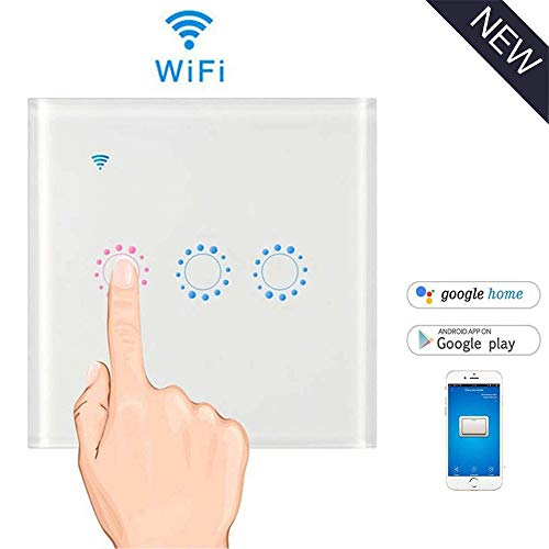 leegoal Interruptor WiFi Alexa, Touch Wireless Intelligence interruptores de Pared con Control...