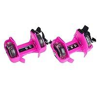 Kalttoy Children Wheel Heel Roller Light Adjustable Skates Kid Falsh Blade Shoe Strap