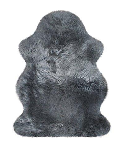 Heitmann australisches Lammfell 90 x 63 cm, Farbe Grau