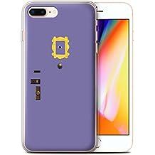 Stuff4 Gel TPU Phone Case/Cover for Apple iPhone 8 Plus/Monica's Purple Door Design/Funny Sitcom TV Parody Collection