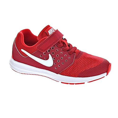 Nike Downshifter 7 Gs, Scarpe da Corsa Bambino Rosso (Univ Red/White/Tough Red/Black)