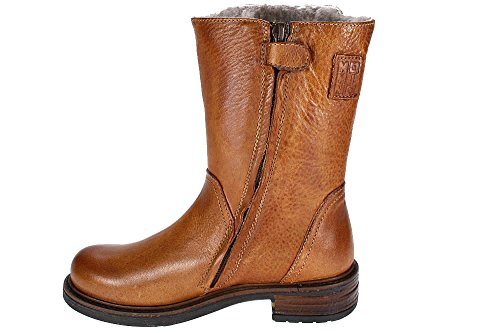 CUOIO INGLES Stiefel Momino | echtes Lammfell | Handarbeit Braun