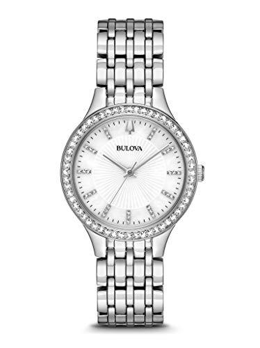 Bulova Reloj Analógico para Mujer de Cuarzo con Correa en Acero Inoxidable 96X146