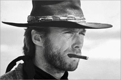 Posterlounge Leinwandbild 180 x 120 cm: Clint Eastwood in Zwei glorreiche Halunken von Celebrity Collection - fertiges Wandbild, Bild auf Keilrahmen, Fertigbild auf echter Leinwand, Leinwanddruck (Clint Eastwood Leinwand)