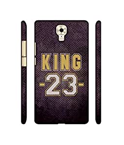 NattyCase King 23 Design 3D Printed Hard Back Case Cover for Gionee M6 Plus