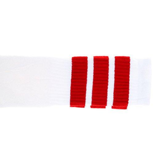Zoll über dem Knie White Tube Socken mit roten Streifen (Kostüme Der 1970er Jahre)