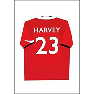 Childrens Canvas Art picture for bedroom football shirt (personalised with name)