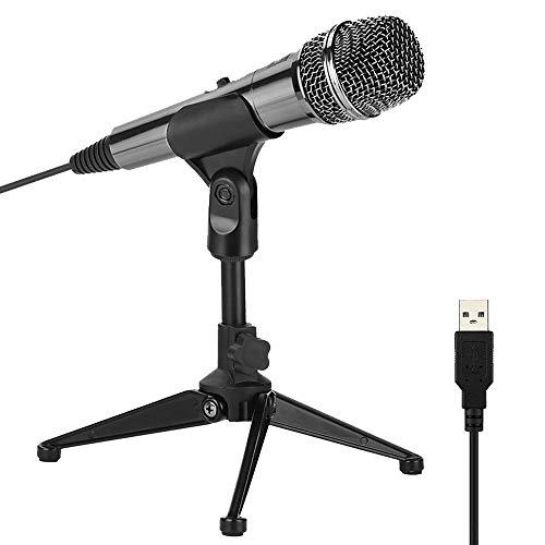 XIAOKOA USB PC Mikrofon,Kompatibel mit Einer Vielzahl von Computersystemen Voice Desktop Mikrofon,Geeignet für Spiele/Webchat/Videokonferenzen/Aufnahme