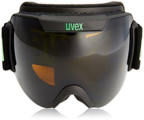 Uvex, Maschera da sci Downhill 2000, modello 2014, colori assortiti, Grigio (Pitch Black Mat), Taglia unica