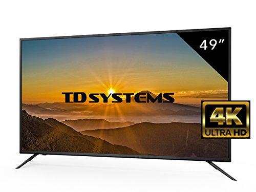 Televisores Led 49 Pulgadas 4K Ultra Hd TD Systems Resolución 3840x2160 HDMI 3 VGA 1 USB Repoductor y Grabador Tv Led