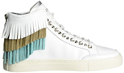 REPLAY - Weber, Pantofole a Stivaletto Donna Mehrfarbig (White Green Beige)