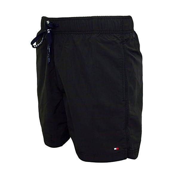Tommy Hilfiger Clásico Natación Pantalones Cortos De Hombres, Pirata Negro