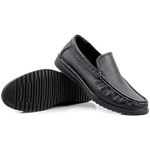 Extra grande hombres de cuero/Zapatos de fondo suave para la tercera edad/Zapatos del padre/Zapatos de cuero/ zapatos padre