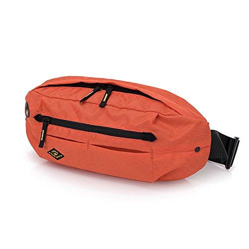Bauchtasche Sporttasche Crossbody Tasche Sling-Rucksack Schultertasche Damen Herren Handtasche Brusttaschen für Outdoorsport Laufen, Ballspiele, Wandern, Camping, 15,75 x 7,09 x 3,54 Zoll (Orange)