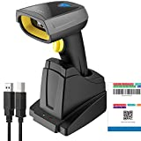 Inateck 2D Barcode Scanner Bluetooth, Wireless QR Code Scanner mit intelligenter Ladestation, Bildschirm und Display scannen unterstützt, BCST-52