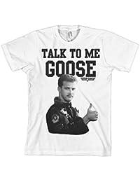 Offizielles Lizenzprodukt Top Gun - Talk To Me Goose T-Shirt (Weiß)