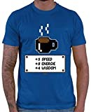 HARIZ  Herren T-Shirt Speed Energie Wisdom Gamer Gaming Pixel Zocken PC Geburtstag Plus Geschenkkarte Royal Blau XS