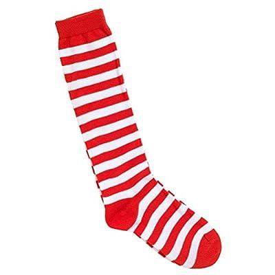 Tinksky Cosplay de décoration Articles de fête Clown chaussettes Circus Déguisements (rouge et blanc)