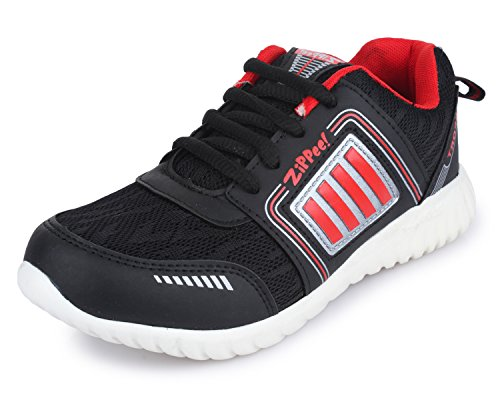 TRASE Zippie-H Black/Red Sports Shoes for Boys-Girls-11C IND/UK