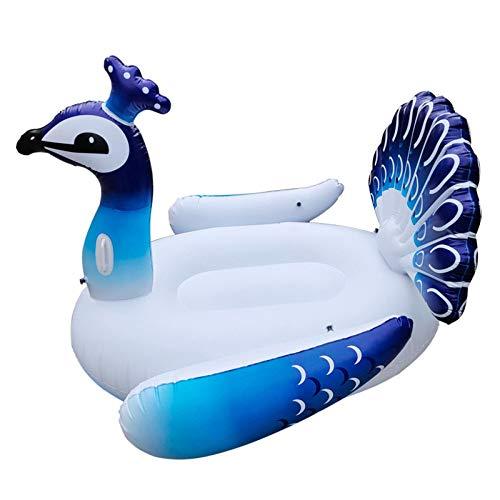 ZHKGANG Erwachsenes Flamingo-Einhorn-Wasser-aufblasbares Berg-Strand-Klappstuhl-Wasser-Spielzeug-Sich Hin- Und Herbewegende Reihe,Peacock-160 * 120cm